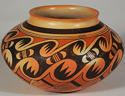 Southwestern pottery container.