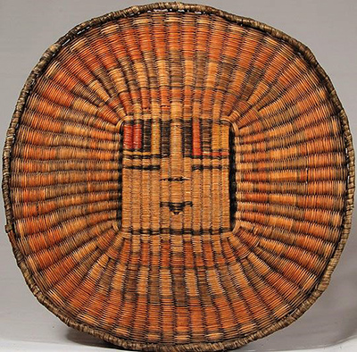 Hopi Indian basket dyed with native plants.