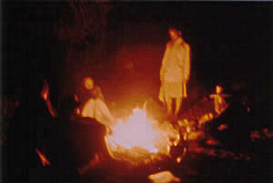 Stories around the campfire.