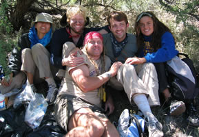 "Happy faces after our rescue for the DISCOVERY CHANNEL's ""Lost in the Wild: High Desert."""